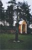 Kryžius Marcinkonių bažnyčios šventoriuje