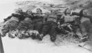 partizanai suguldyti Daugų stribų būstinės kieme