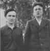 Antanas Bagočiūnas-Dūmas su broliu Jonu