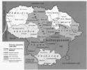 Lietuvos laisvės kovos sąjūdžio apygardų žemėlapis